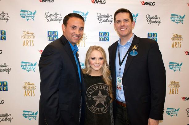 Walt Disney Ambassadors Rich Tamayo & Tye Arnold With Danielle Bradbery at Festival Disney