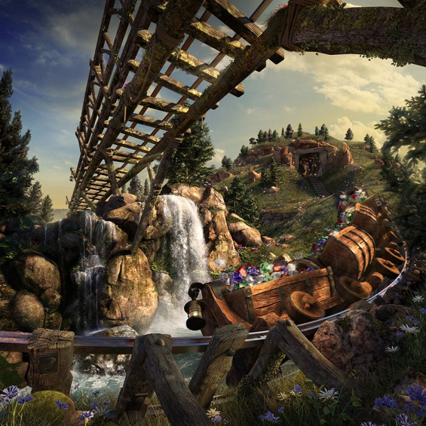 All in the Details: Check Out a CGI Ride-Through of Seven Dwarfs Mine Train at Magic Kingdom Park