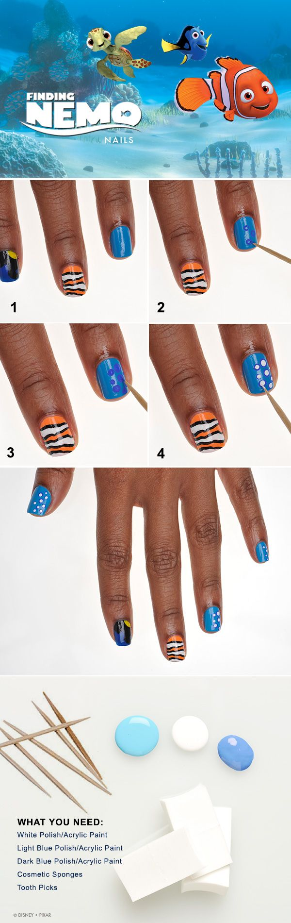 Show Your Disney Side: Nemo-Inspired Nail Tutorial