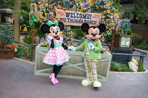 Meet Mickey Mouse and Minnie Mouse at Springtime Roundup at Disneyland Park