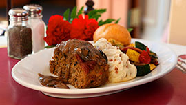 Meatloaf at Carnation Café at Disneyland Park