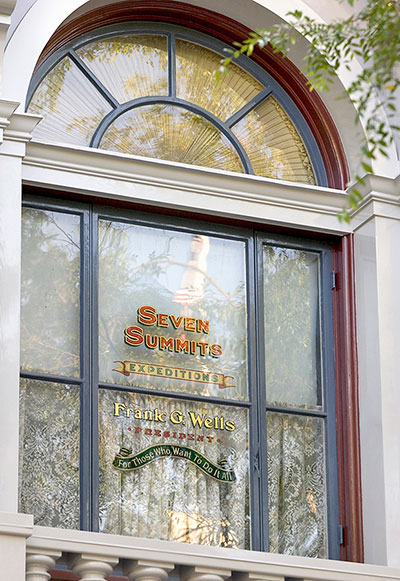 Windows on Main Street, U.S.A., at Disneyland Park: Frank Wells