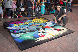 Chalk Art by Featured Artist Noah at the Rock Your Disney Side 24-Hour Event at Disneyland Resort
