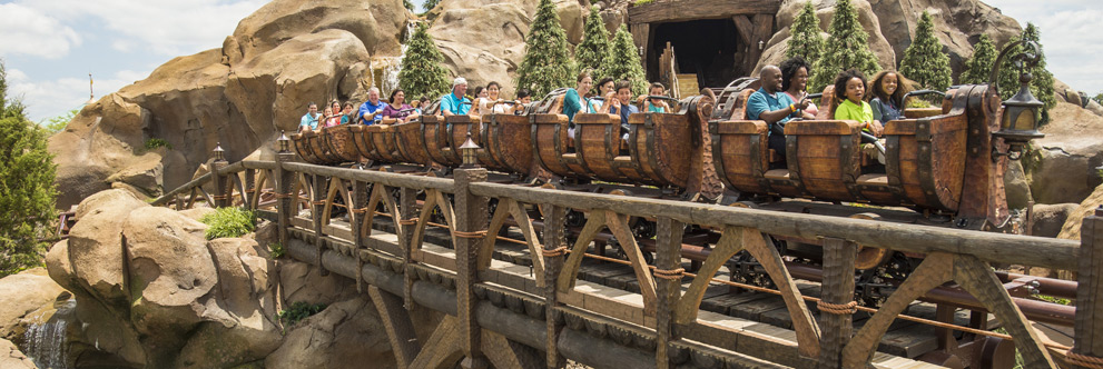 Seven Dwarfs Mine Train at Magic Kingdom Park