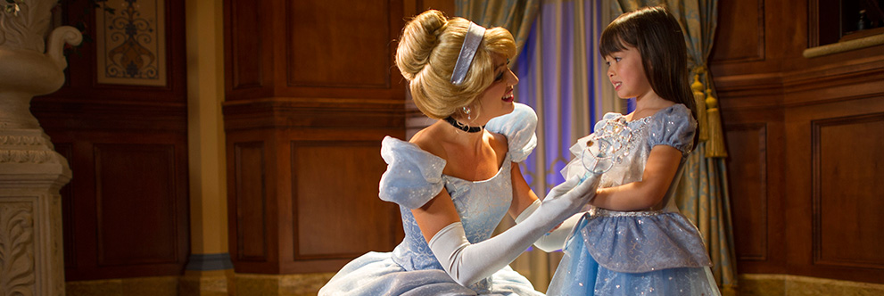 Meet Cinderella in Princess Fairytale Hall at Magic Kingdom Park