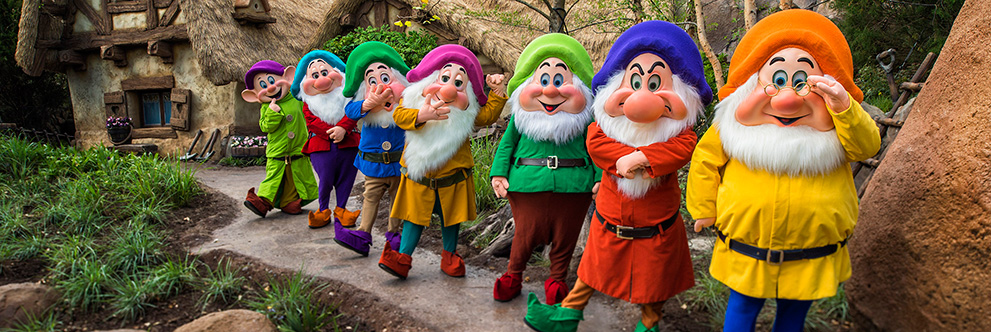 Seven Dwarfs Visit Seven Dwarfs Mine Train at Magic Kingdom Park