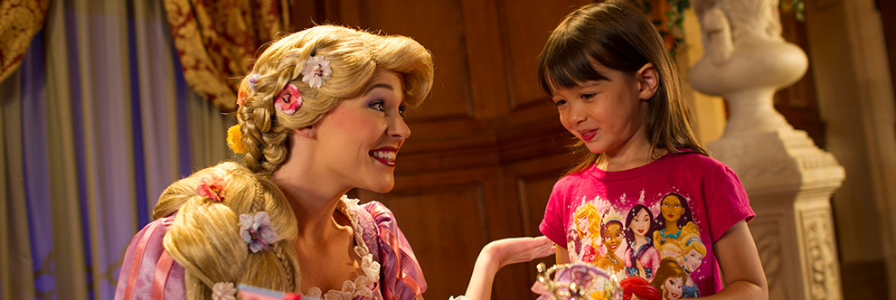 Meet Rapunzel in Princess Fairytale Hall at Magic Kingdom Park