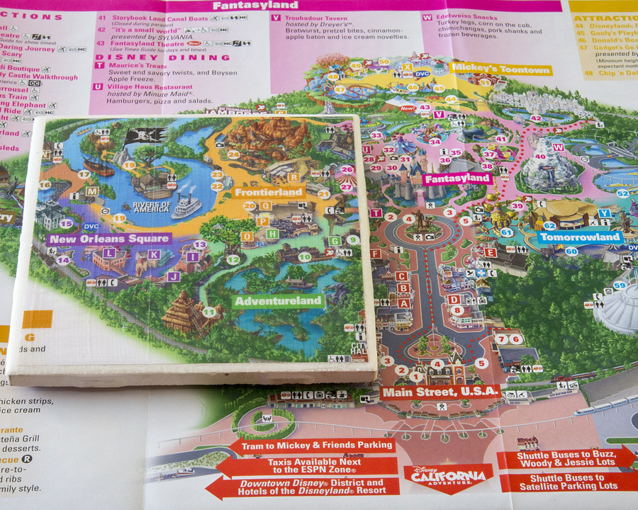 Show Your DIY Disney Side: Disney Parks Guide Map Coasters ...