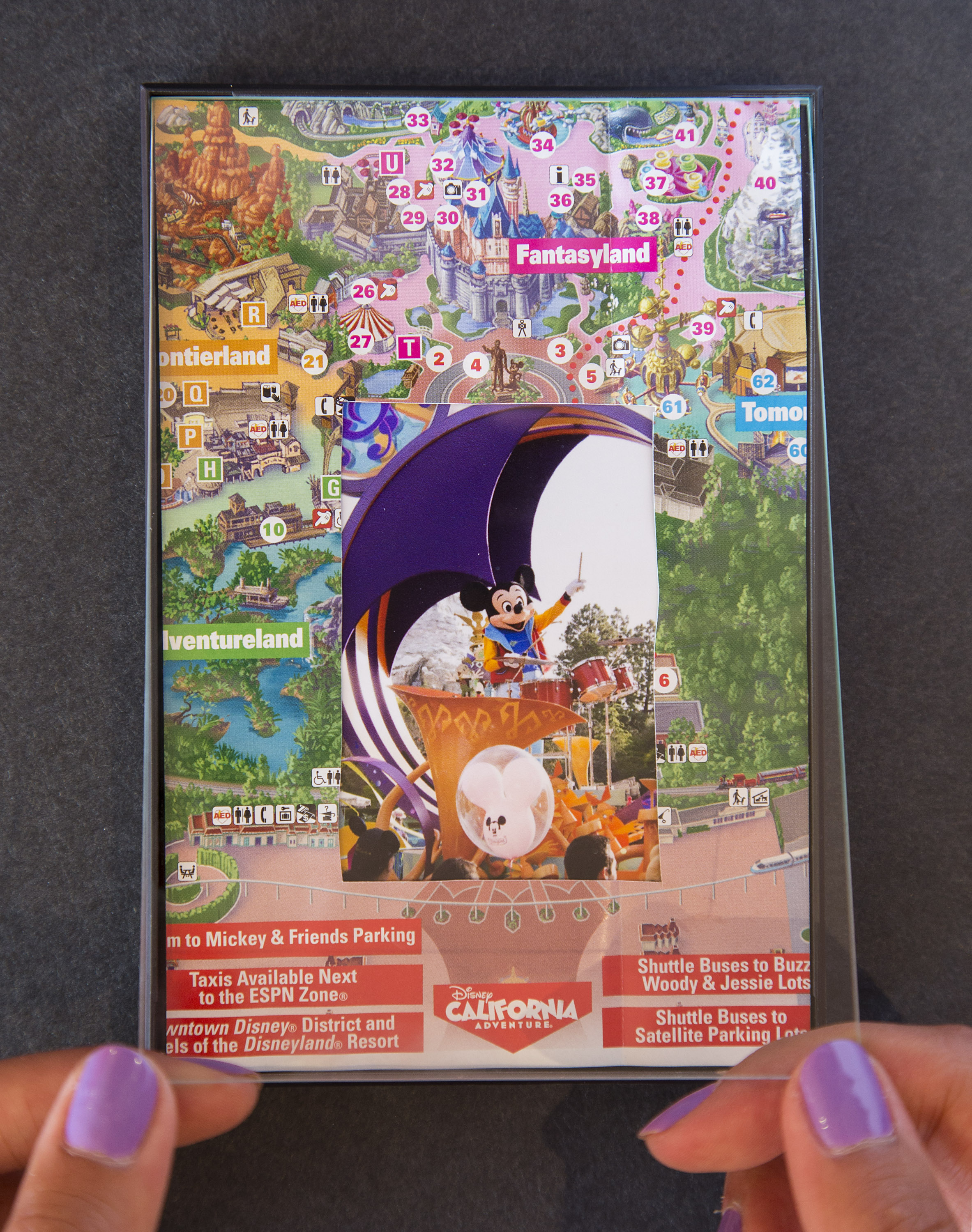 Disney Parks Show Your DIY Disney Side: Disney Parks Guide Map Photo Mat