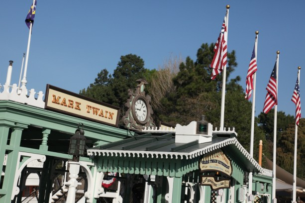 Historic American Flags in Frontierland at Disneyland Park