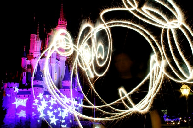 Fourth of July Inspires Light Painting at Magic Kingdom Park