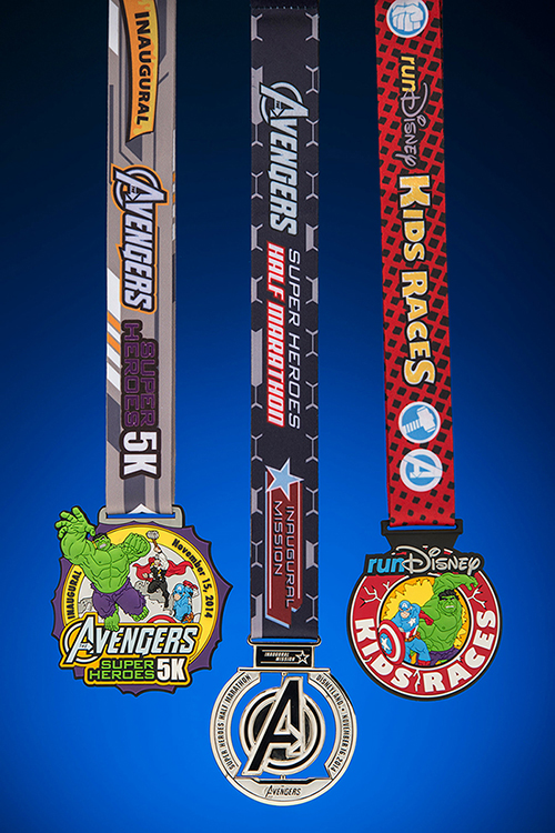 Avengers Super Heroes Half Marathon Weekend Finisher Medals Revealed