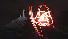 Light Painting Once Again Takes Art into Mid-Air Inside Magic Kingdom Park