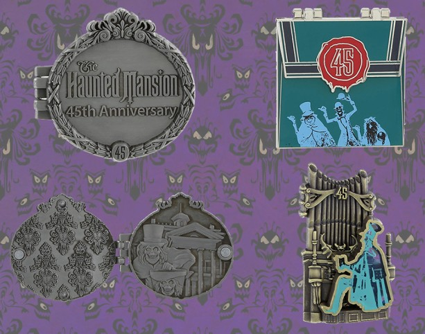 Haunted Mansion 45th Anniversary Pin Releases at the Disneyland Resort