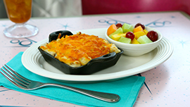 Veggie-Tater Bake at Flo's V8 Cafe at Disney California Adventure Park