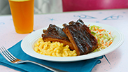 Barbecued Pork Ribs at Flo's V8 Cafe at Disney California Adventure Park