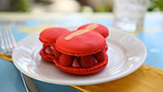 Raspberry Macaron at Jolly Holiday Bakery Cafe in Disneyland Park