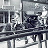 @q7xs4LofoF: Me and My Mom on Burro (and Horse?) Ride in Frontierland, 1964. Maybe This is Why I Hate Hats? ;)