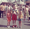 @rOsRMEpzHS: My Sister and I Excited to Hold Pinnochio's Hand at Disneyland in the 60s.