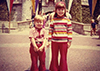 @rBc5FNoura: 70's decade! Me and My Little Brother in front of Sleeping Beauty's Castle