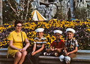 @KrazyKevinWolff: My Dad, Uncles, & Grammy at the ‪@Disneyland ‪#Matterhorn Bobsleds in the late '60s