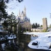 Tokyo Disneyland Covered in Real Snow