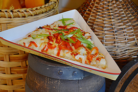 Fire-Breathing Dragon Flatbread from Village Haus Restaurant