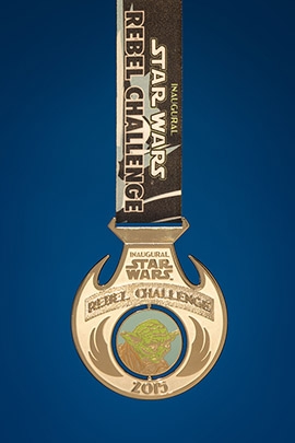 The Inaugural Star Wars Half Marathon Weekend Presented by Sierra Nevada Corporation Medal Rebel Challenge medal