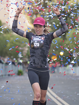 Alex de la Huerta from Mexico City, Mexico - Who Won the Woman's Title at the Avengers Super Heroes Half Marathon
