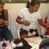Artisans creating cotton-top plush toys