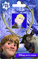 New Kristoff Disney Pin That Comes With the Purchase of a Holiday Pin Series Disney Gift Card