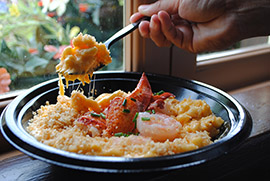 Seafood Mac & Cheese from Columbia Harbour House at Magic Kingdom Park