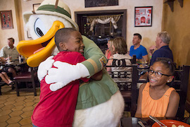 Donald Duck Dressed in his Safari Best at Tusker House Restaurant at Disney's Animal Kingdom