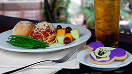 Kids Spaghetti at Aladdin's Oasis in Disneyland Park