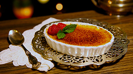 Creme Brulee at Blue Bayou Restaurant in Disneyland Park