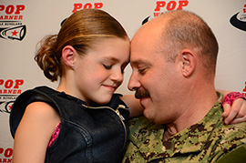 Soldier Fulfills Daughter's Wish At ESPN Wide World of Sports Complex