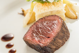 Kobe Beef with Turnip and Potato Gratin Dish from the Petites Assiettes de Remy Experience