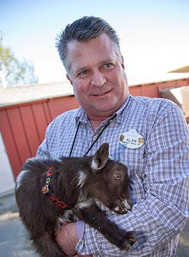 Disneyland Cast Member Alan with New Boy Nigerian Dwarf Goat