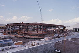 Carousel of Progress being built in 1974