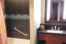 Split Bathrooms in the Deluxe Studios at Disney's Polynesian Villas & Bungalows