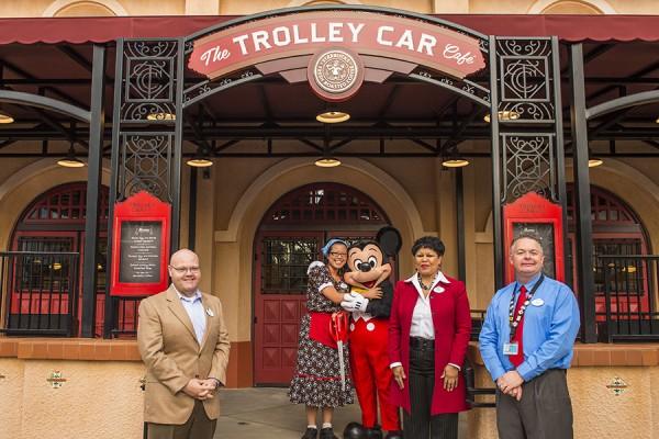 trolley car caf u00e9 opens  now serving starbucks at disney u2019s