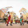 The Flag-Throwing Team of Sbandieratori Di Sansepolcro in Italy at Epcot