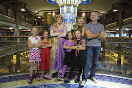 Host Melissa d'Arabian and Her Family on the Disney Dream