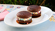 New Rainbow Whoopie Pie at Jolly Holiday Bakery Café in Disneyland Park