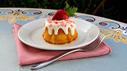 New Strawberry Bundt Cake at Jolly Holiday Bakery Café in Disneyland Park