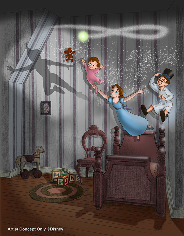 Bringing New Magic to Peter Pan's Flight at Disneyland Park, Image Courtesy of Walt Disney Imagineering