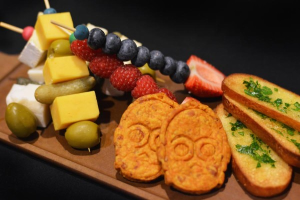 Illum Fruit and Cheese 'Sabers' from the Rebel Hangar: A Star Wars Lounge Experience at Disney's Hollywood Studios