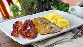 Bacon and Eggs, Part of 'World of Color' Dining Packages