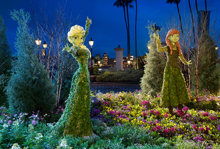 Behind The Scenes Creating Anna Elsa Topiaries For The Epcot International Flower Garden
