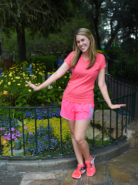 Katie Showing her Disney Side as Rosetta for the Tinker Bell Half Marathon Weekend at Disneyland Resort